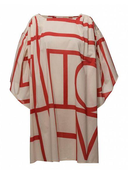 Totême Estepone dress - Ruby Red