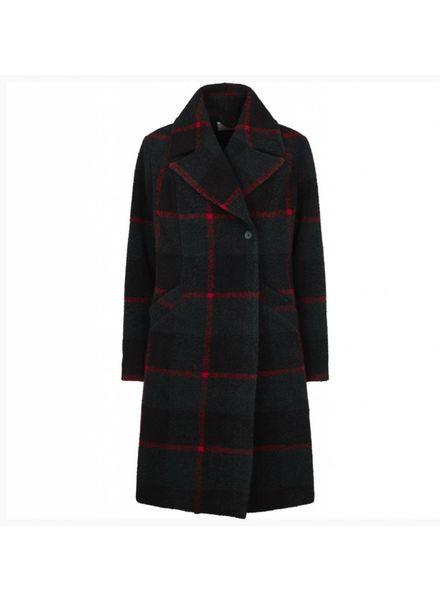 Just Female Emeline coat - Green Check