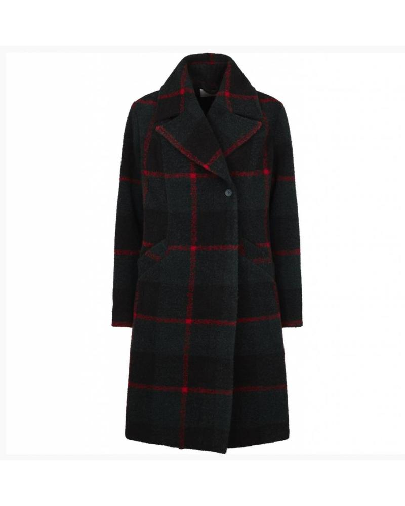 Just Female Emeline coat - Green Check