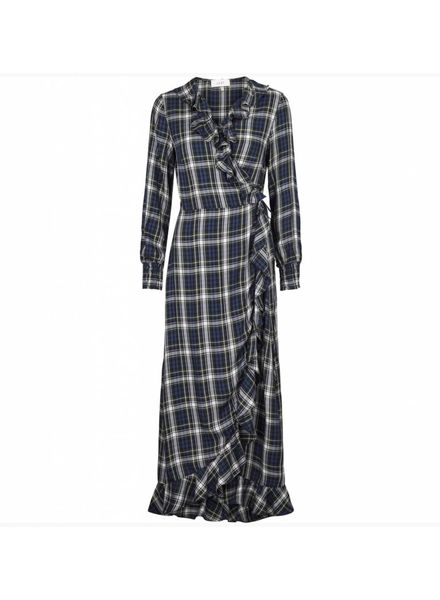 Just Female Ray maxi dress - Green check