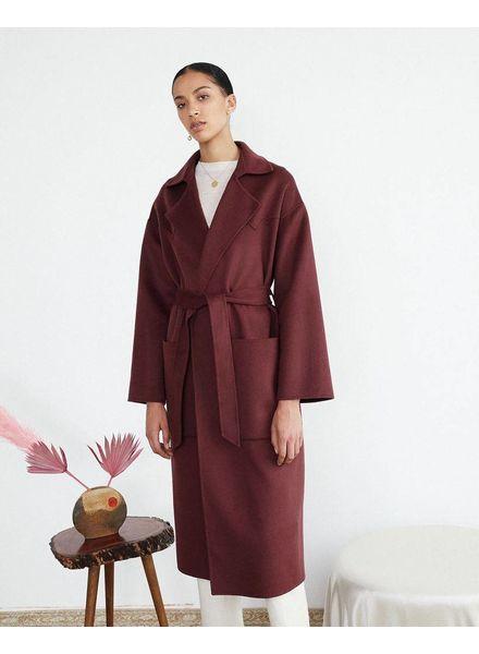 Nanushka Alamo coat - Plum