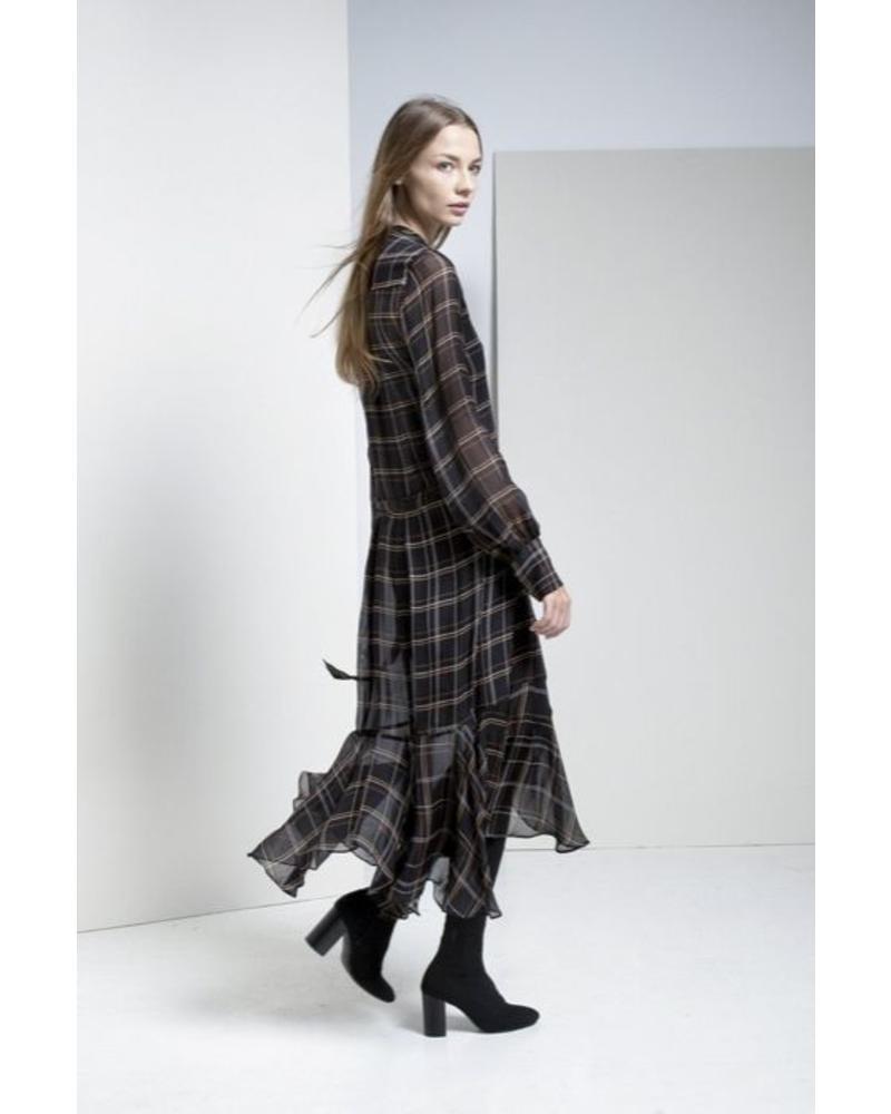 Magali Pascal Alma dress - Tartan Black
