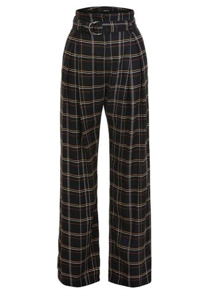 Magali Pascal Love Affair Pants - Tartan Black