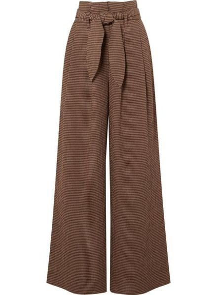 Nanushka Nevada Pants - Brown Check