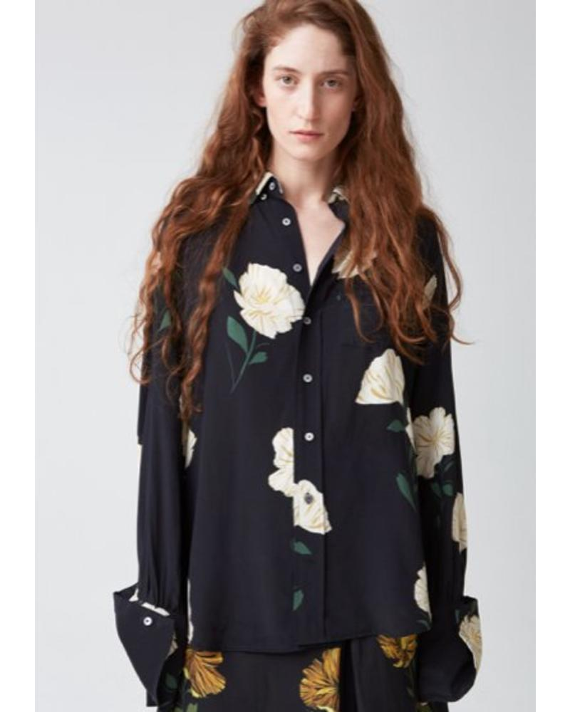 Hope Brave Shirt - White Flower Print