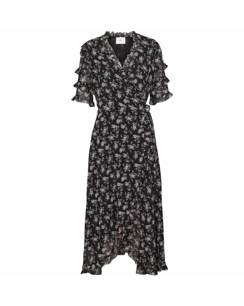 Just Female Moe frill dress - Vintage flower mini
