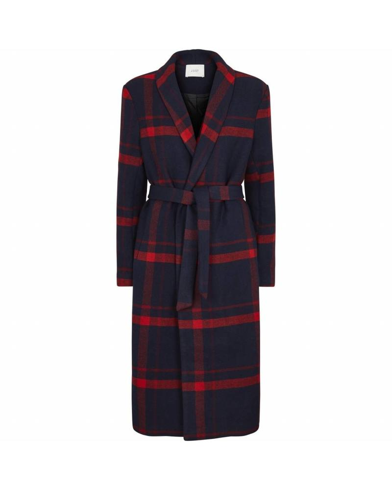 Just Female Munch coat - Check