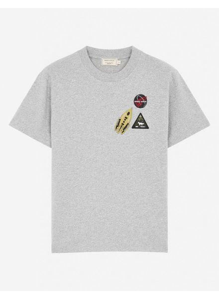 Maison Kitsuné Tee Astronaut - Grey