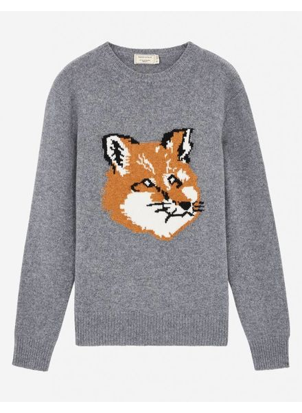 Maison Kitsuné Fox head pullover - Grey