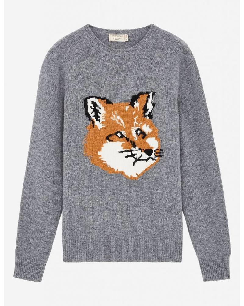 Maison Kitsuné Fox head pullover - Grey