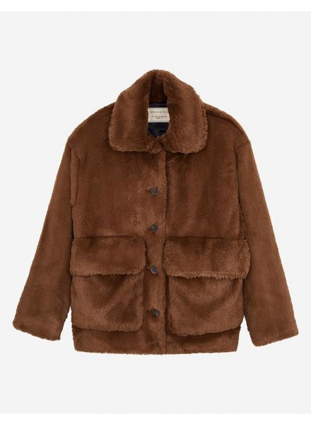 Maison Kitsuné Jean Faux-Fur - Brown