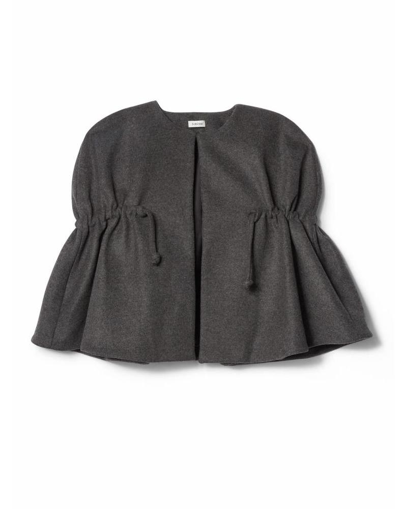 Totême Laval wool cape - Dark grey