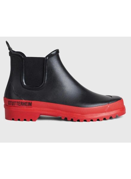 Stutterheim Chelsea rainwalker - Black/Red