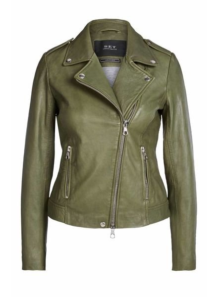 SET Leather jacket - Four leaf clove