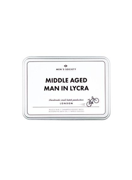 Men's Society Middle Aged Man In Lycra