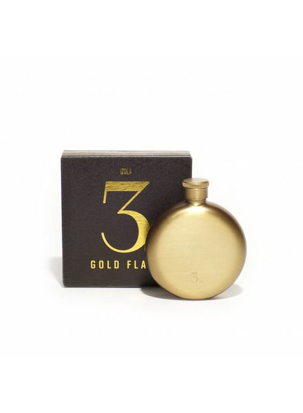 Men's Society Hip Flask - Gold, 3oz
