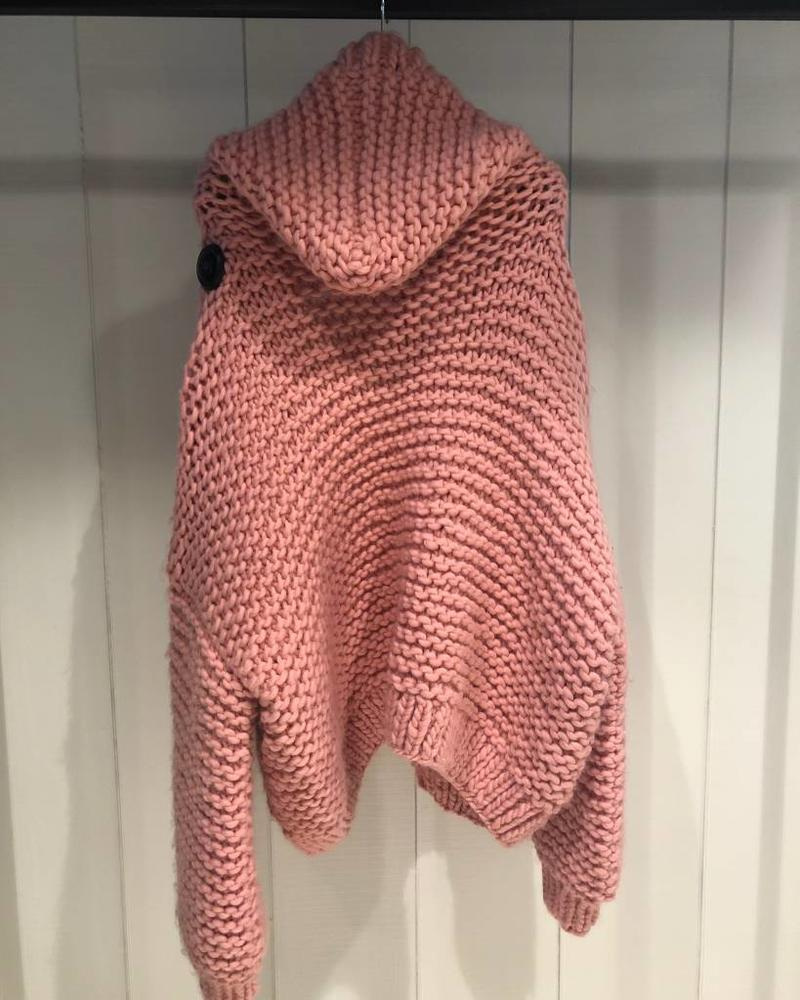 I Love Mr Mittens Hooded bomber wool - Pink