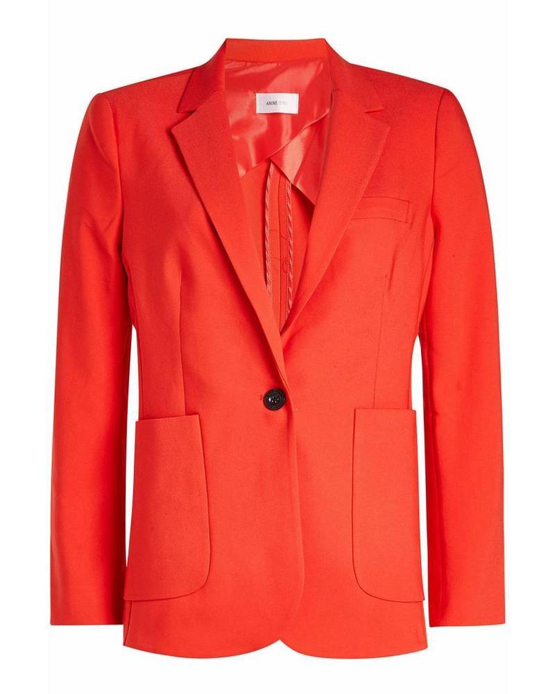 Anine Bing Schoolboy blazer - Red