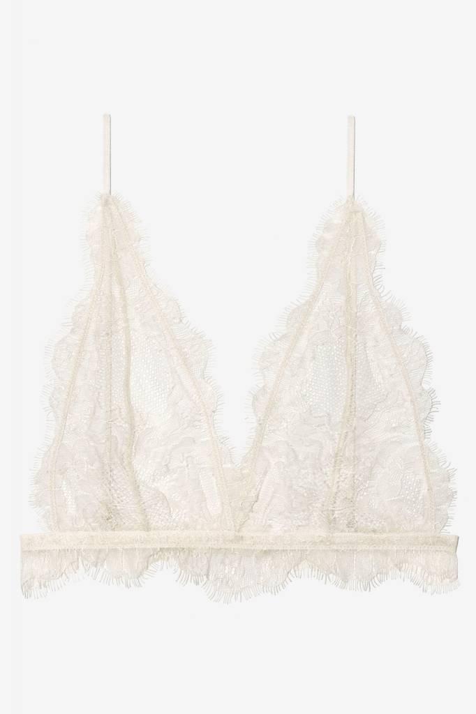 da78019531a68 Anine Bing Delicate Lace Bra - Nude ...