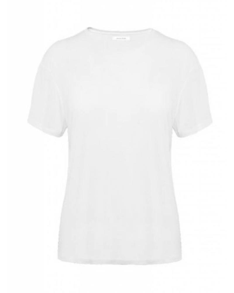 Anine Bing Crew Neck T-shirt - White