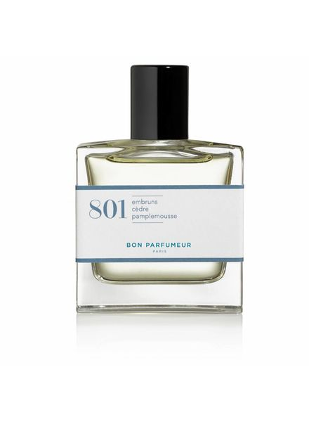 Bon Parfumeur 801 sea spray, cedar, grapefruit