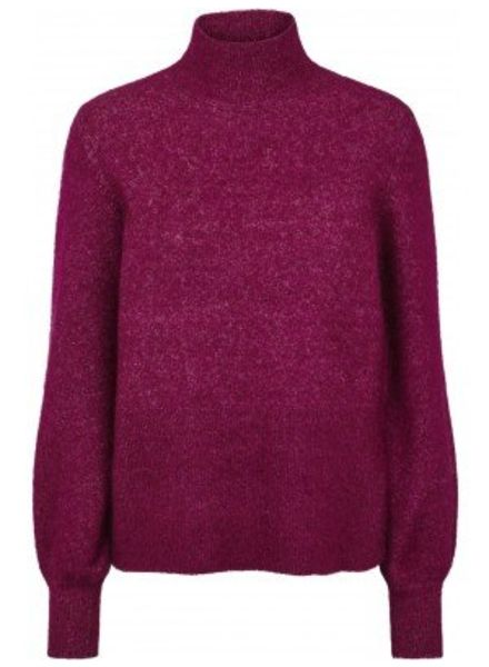 Just Female Theo knit - Magenta plum
