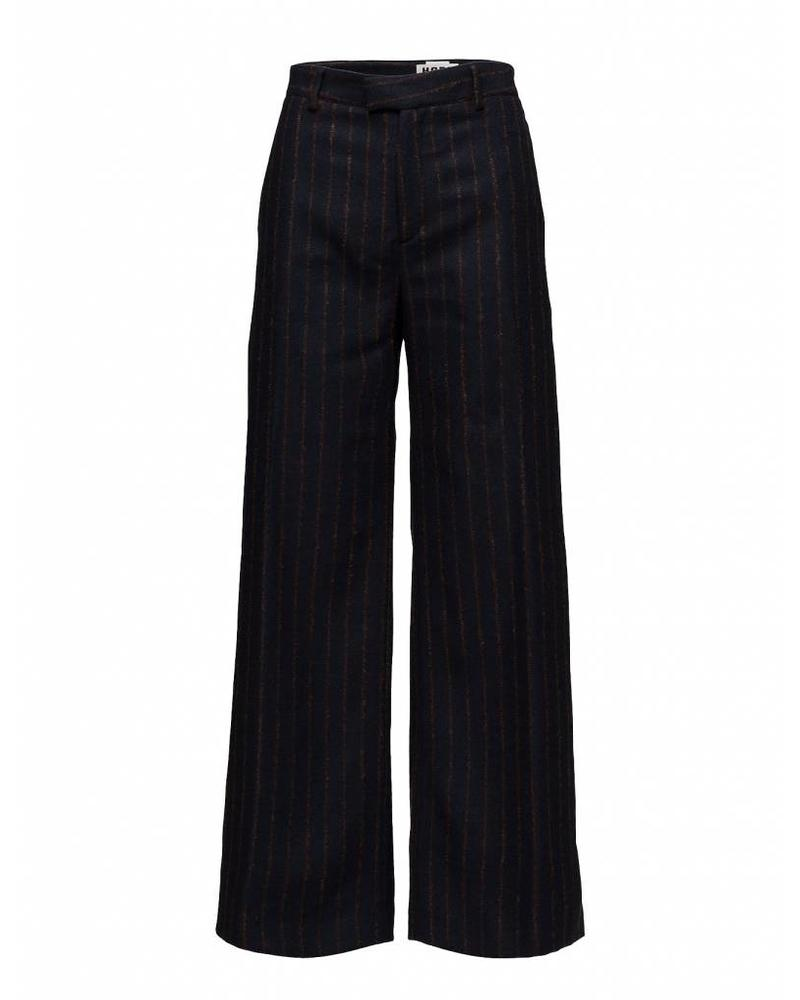 Hope Forty Trousers - Dk Blue Stripe