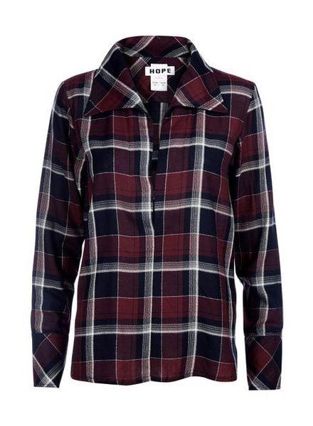 Hope Maxi shirt - Plum Check