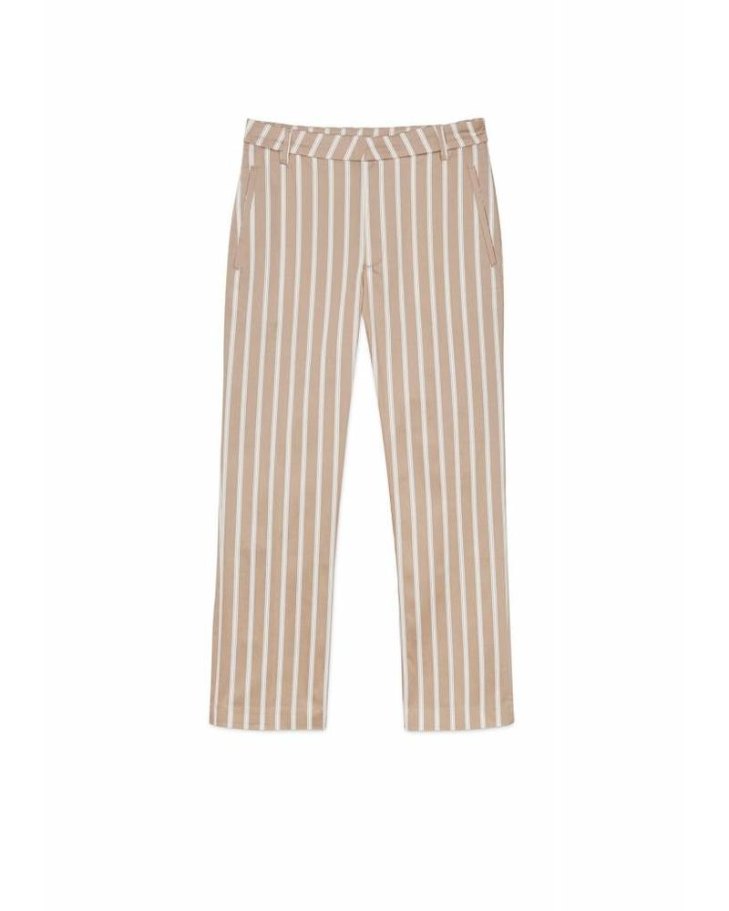 Hope Lobby Trouser - Beige Stripe