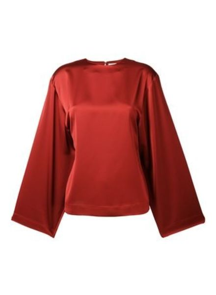 Totême Avila blouse - Rust red