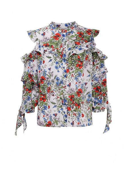 Julie Fagerholt Maiko shirt - Red Flower