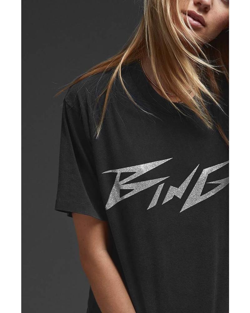 Anine Bing Bing glitter Tee - Black
