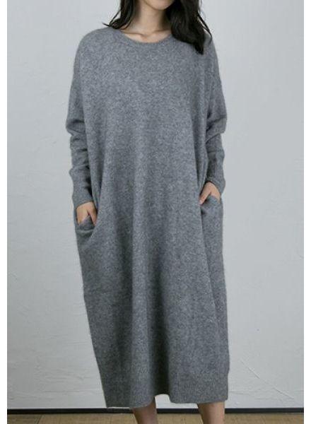 CT Plage Raccoon Longsleeve dress - Dark Grey