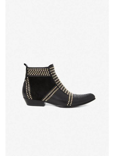 Anine Bing Charlie boots - Gold studs