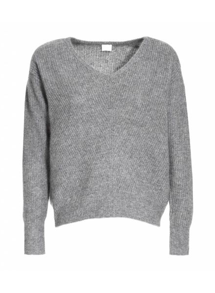 CT Plage Cashmere/Raccoon knitted pullover - Light Grey