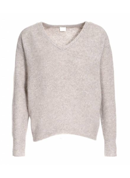 CT Plage Cashmere/Raccoon knitted pullover - Beige