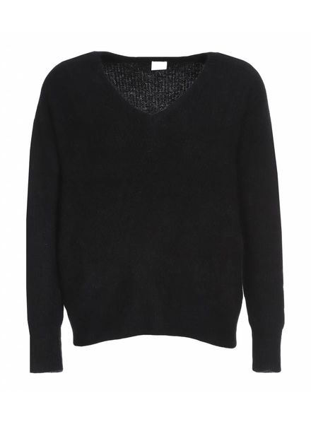 CT Plage Cashmere/Raccoon knitted pullover - Black