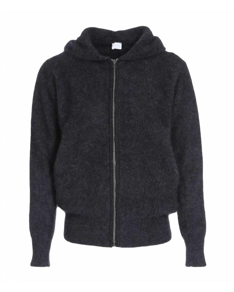 CT Plage Raccoon knitted cardigan with zip - Dark grey