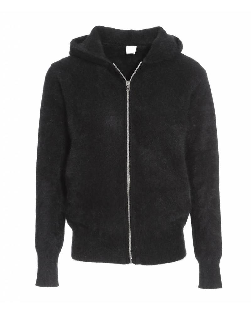 CT Plage Raccoon knitted cardigan with zip - Black