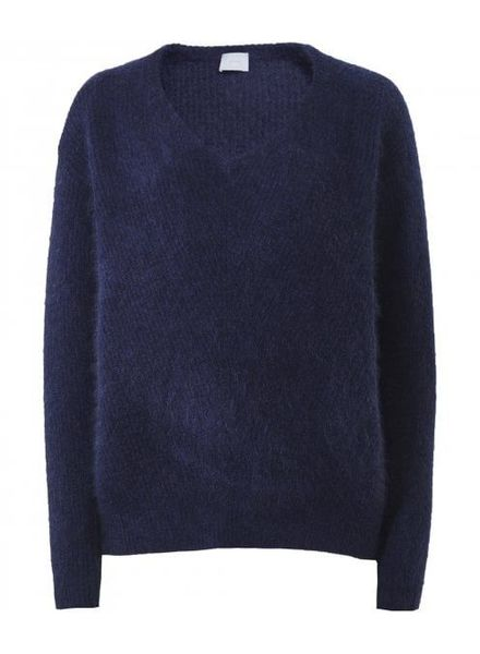 CT Plage Cashmere/Raccoon knitted pullover - Navy