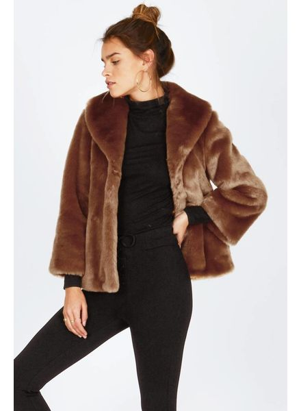 Amuse Society Fur ever Mine Jacket - Camel