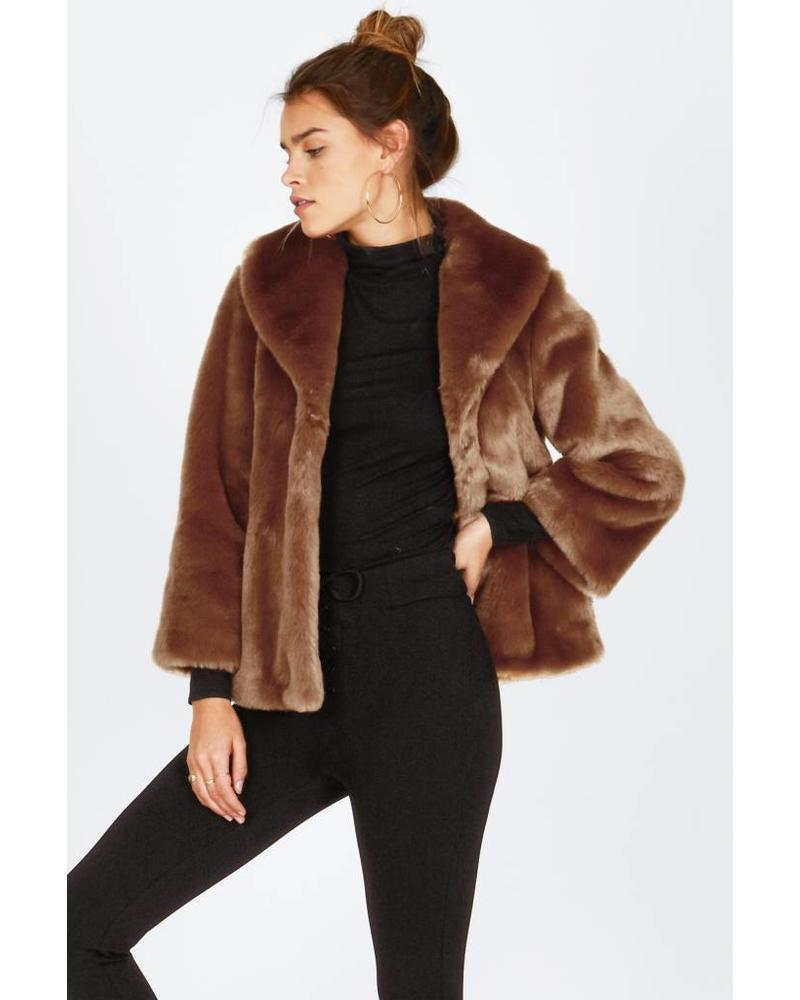 Amuse Society Fur ever Mine Jacket - Camel