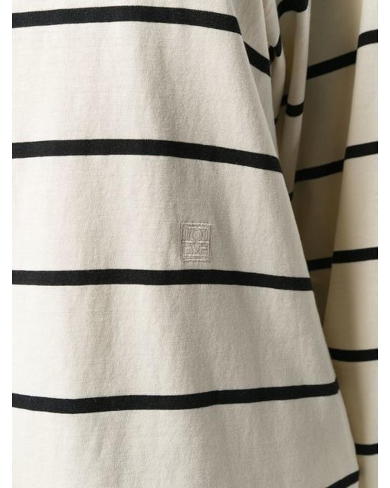 Totême Lesina - T-shirt - Creme stripe