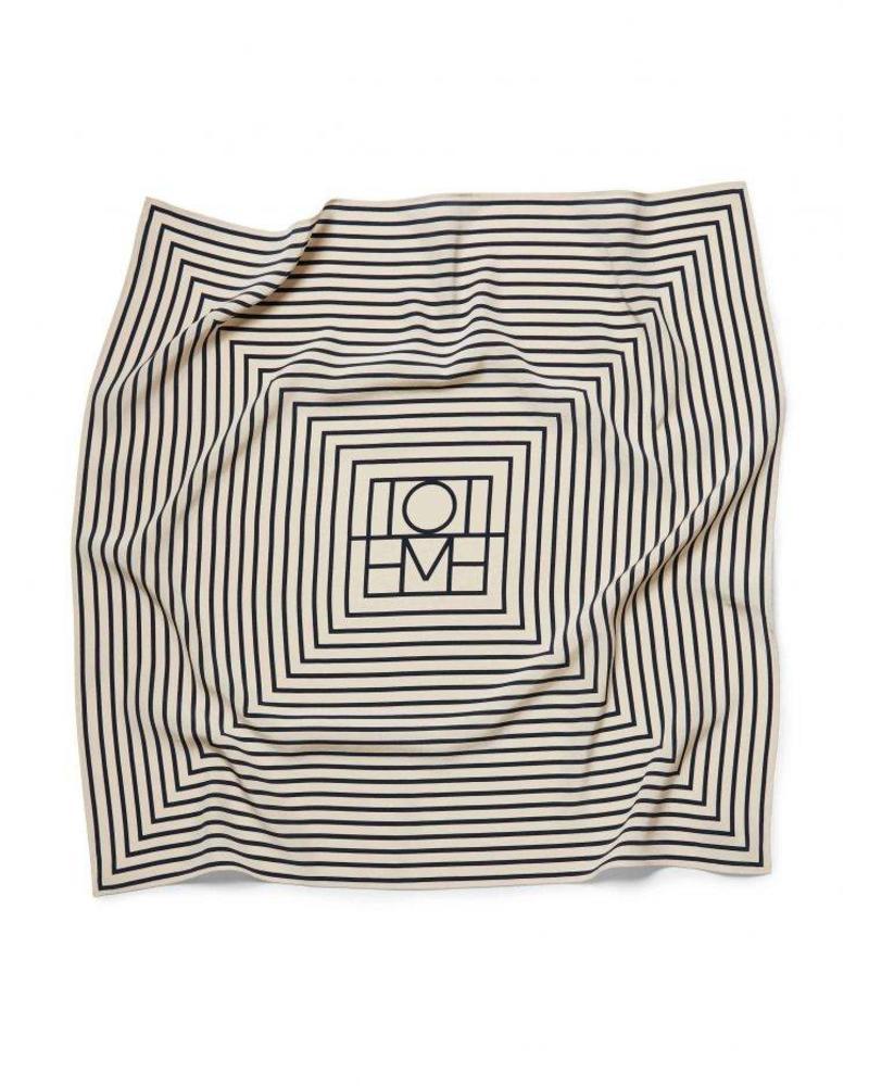 Totême San Remo scarf - Monogram print