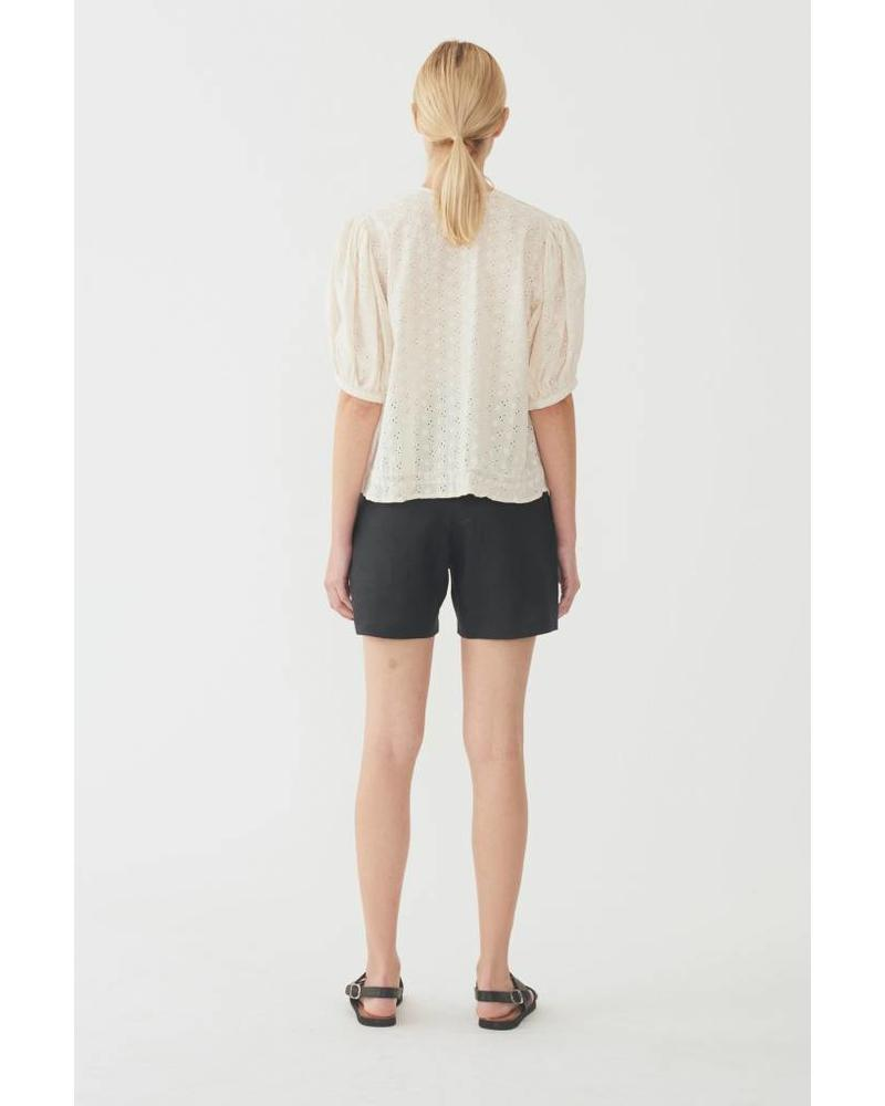Matin Maciel embroidered  Cotton top - Ivory