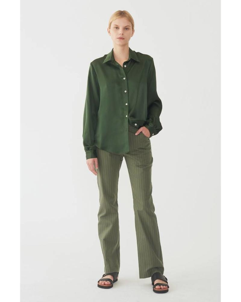 Matin Silk collared shirt - Jungle