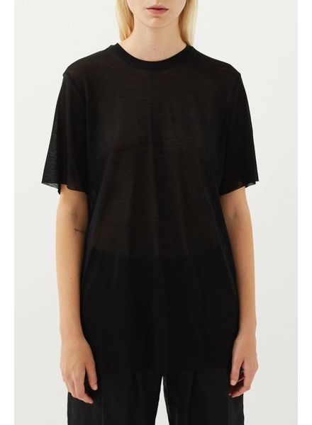 Matin Short Sleeve Fine Knit - Black