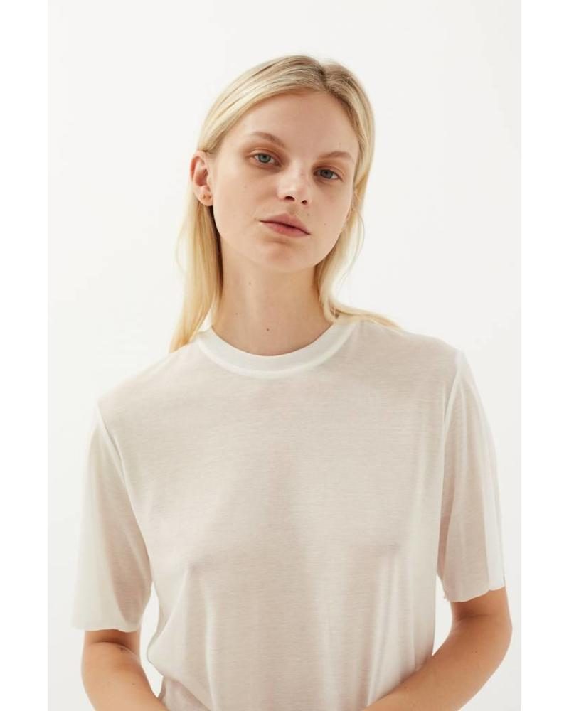Matin Short Sleeve Fine Knit - White