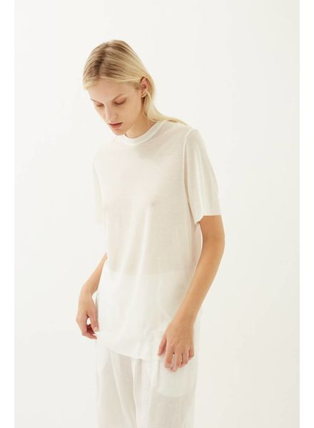 Matin Short Sleeve Fine Knit - White
