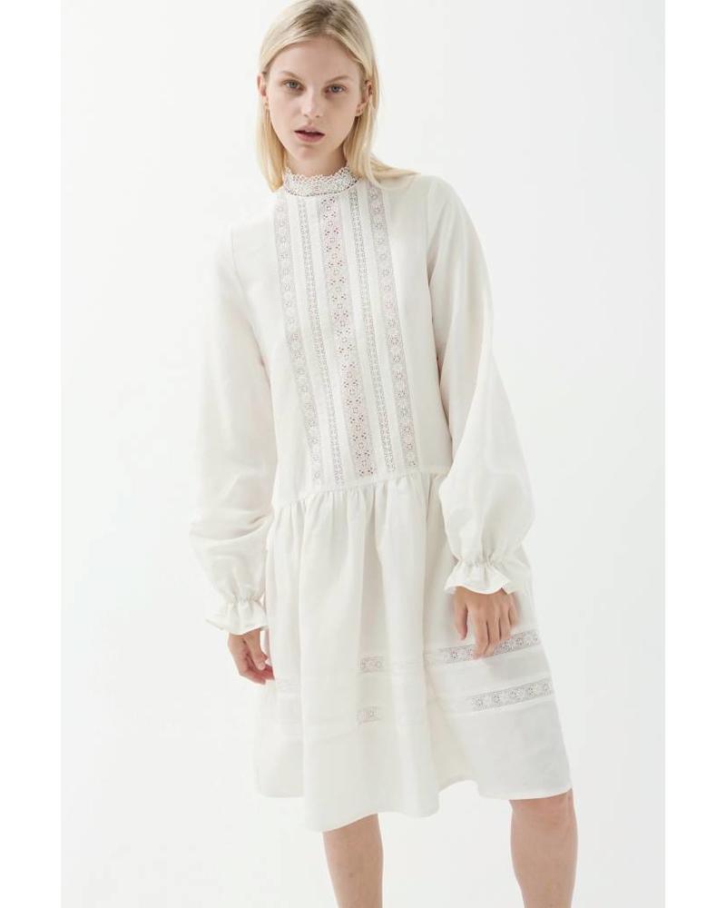 Matin Jissel Lace trim Dress - White